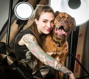 Carli Davidson e Norbert. Foto: Reprodução