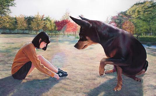 Jeong-Woo-Jae-cachorro-garota-01