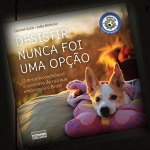 Livro em homenagem a cachorra Mocinha. (Foto: Reprodução / Facebook)