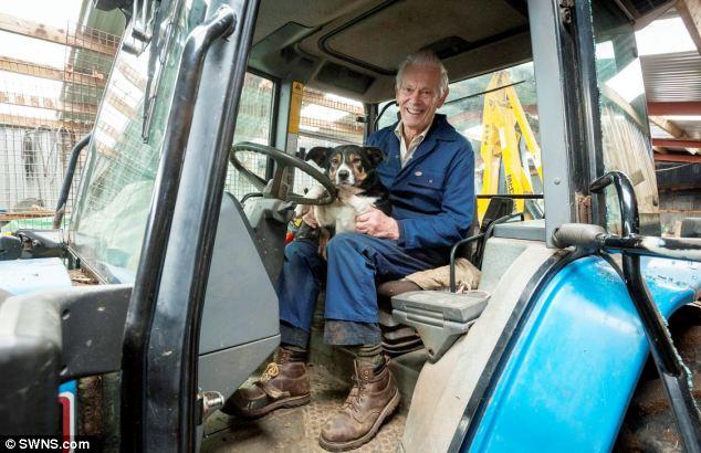 A cachorra Molly e seu tutor Henry Selway. (Foto: Reprodução / Daily Mail)