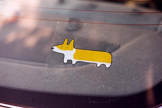 Adesivo para carro. (Foto: Reprodução / Etsy)