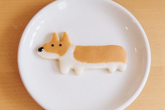 Biscoito bem parecido com o Corgi.  (Foto: Reprodução / Etsy)