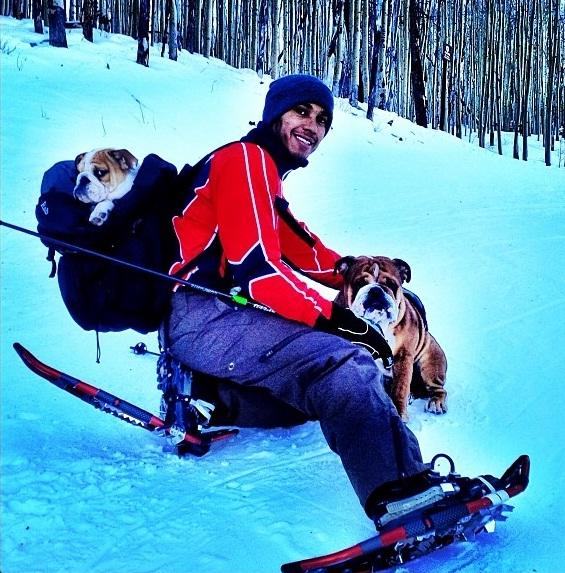 Lewis Hamilton e seus cachorros Roscoe e Coco. (Foto: Reprodução / Instagram)