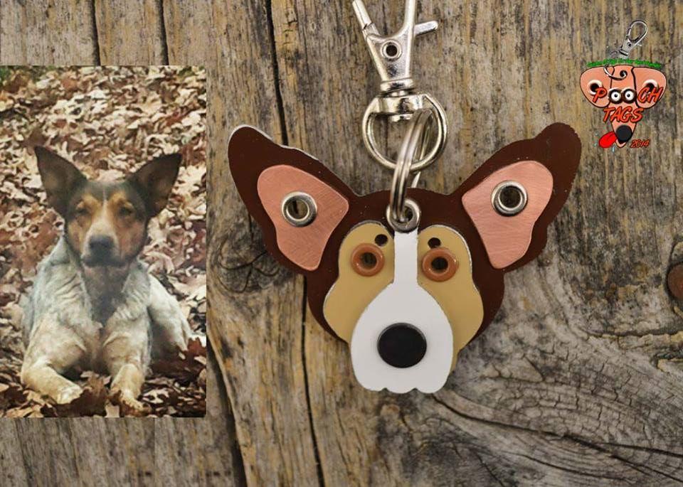 Tenha um chaveiro com o rosto do seu cão. Foto: Reprodução / Poochtags