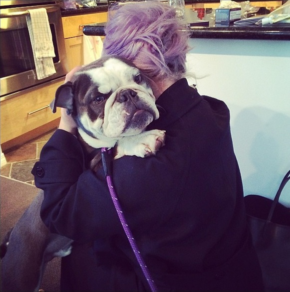 Kelly Osbourne e o cachorro Willy. (Foto: Reprodução / Instagram)