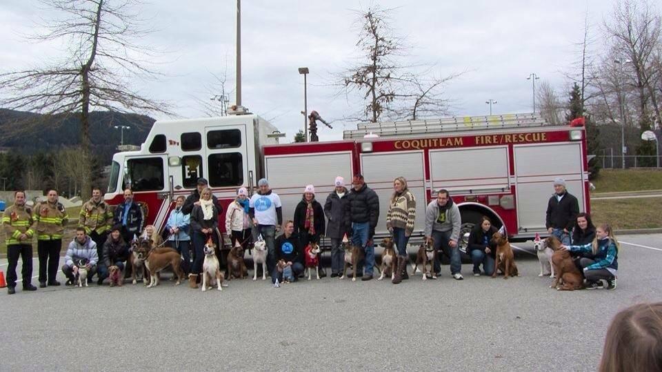 Todos que participaram da festa de aniversário, inclusive os bombeiros. (Foto: Reprodução / Facebook)