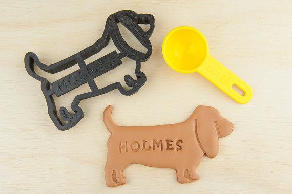 Cortador de biscoitos de basset hound. (Foto: Divulgação / Etsy / NameThatCookie)