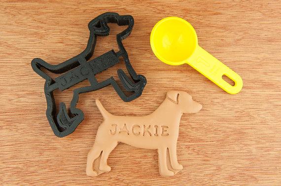 Cortador de biscoitos de jack russel terrier. (Foto: Divulgação / Etsy / NameThatCookie)