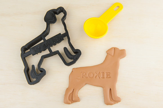 Cortador de biscoitos de rottweiler. (Foto: Divulgação / Etsy / NameThatCookie)