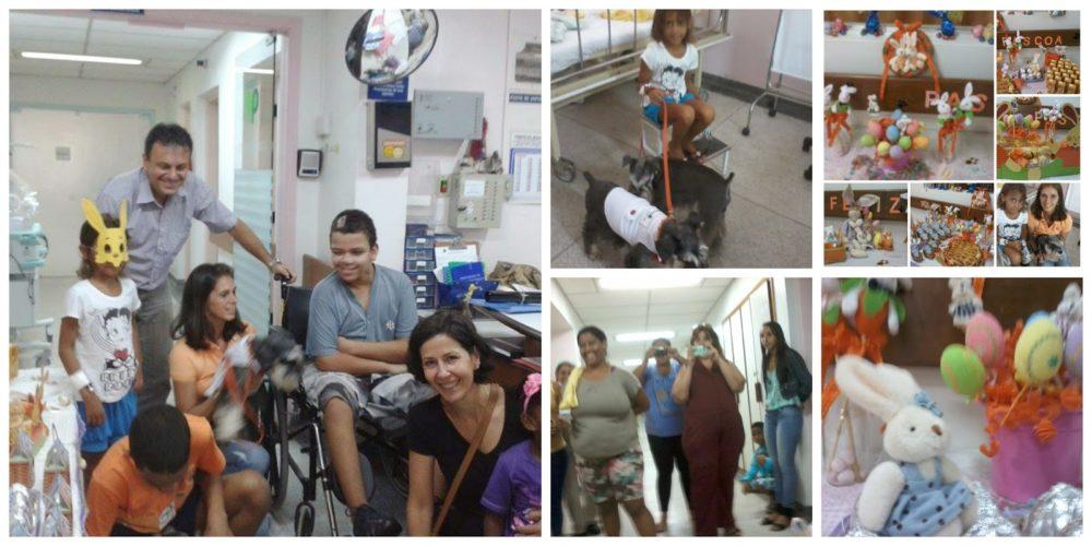 Dr. Au Au no Hospital Guilherme Alvaro em Santos. Foto: Reprodução / Dr. AuAu