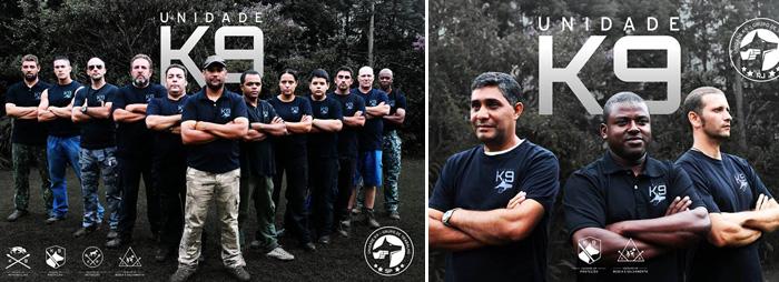 Esquerda: Unidade K9, célula de trabalho São Paul. Direita: Sede em Barra Mansa a célula da Unidade K9. Foto: Reprodução/facebook. Montagem: Portal do Dog