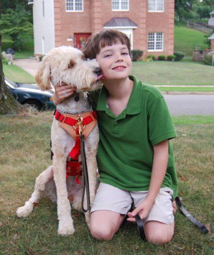 Cão de resposta para convulsão (Foto: Reprodução / Pawnation)