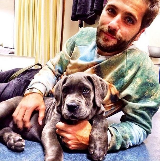 Bruno Gagliasso ganhou a cachorrinha Menina de André Marques. (Foto: Reprodução / Instagram)