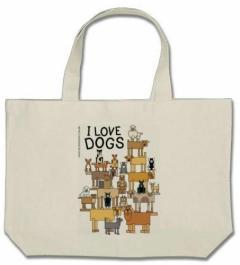 Ecobag I LOVE DOGS. (Foto: Divulgação / Projeto Pêlo Próximo)