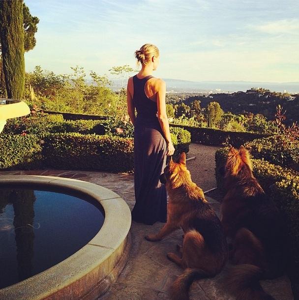 Na casa de Heidi Klum. (Foto: Reprodução / Instagram)