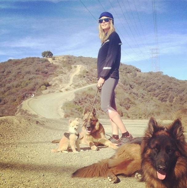 Passeio com os três cachorros.  (Foto: Reprodução / Instagram)