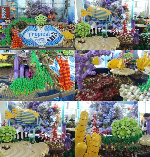 Coleção incrível da Lego para aquários. Fotos: Fabio Sakita/Portal do Dog