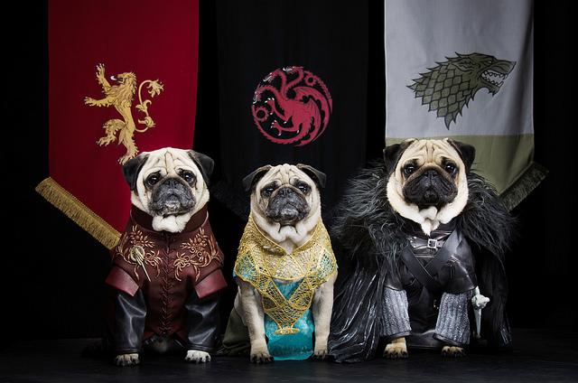 Tyrion Lannister, Daenerys Targaryen e Jon Snow. Foto: Reprodução/Flickr