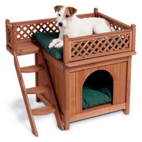 Casinha de cachorro com terraço. (Foto: Reprodução / Amazon)