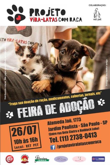Foto: Divulgação / Facebook / Projeto Vira-Latas Com Raça