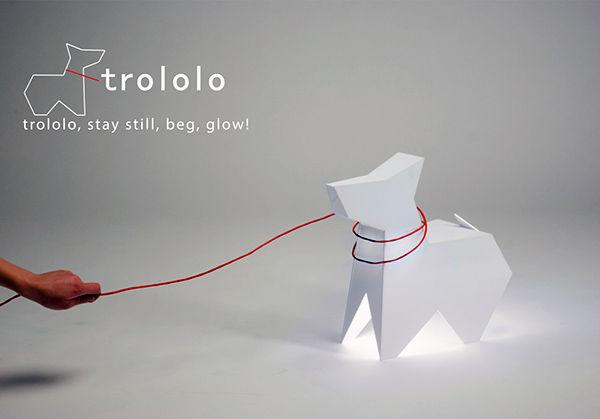 Luminária em formato de cachorro. (Foto: Reprodução / Yanko Design)