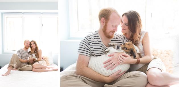 Casal fez ensaio fotográfico especial com o cachorro. (Foto: Jamie Clauss)