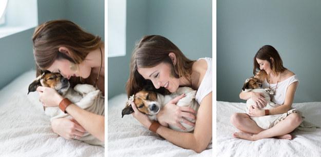 Jan Renegar fez um ensaio fotográfico com seu filho canino. (Foto: Jamie Clauss)