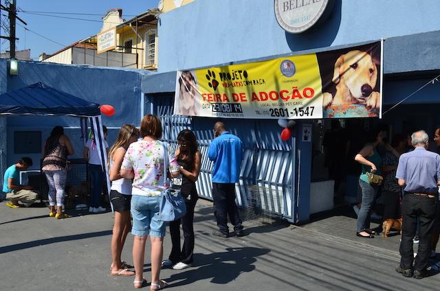 A feira de adoção do Projeto Vira-Latas com Raça. (Foto: Fabricio Ladeira)