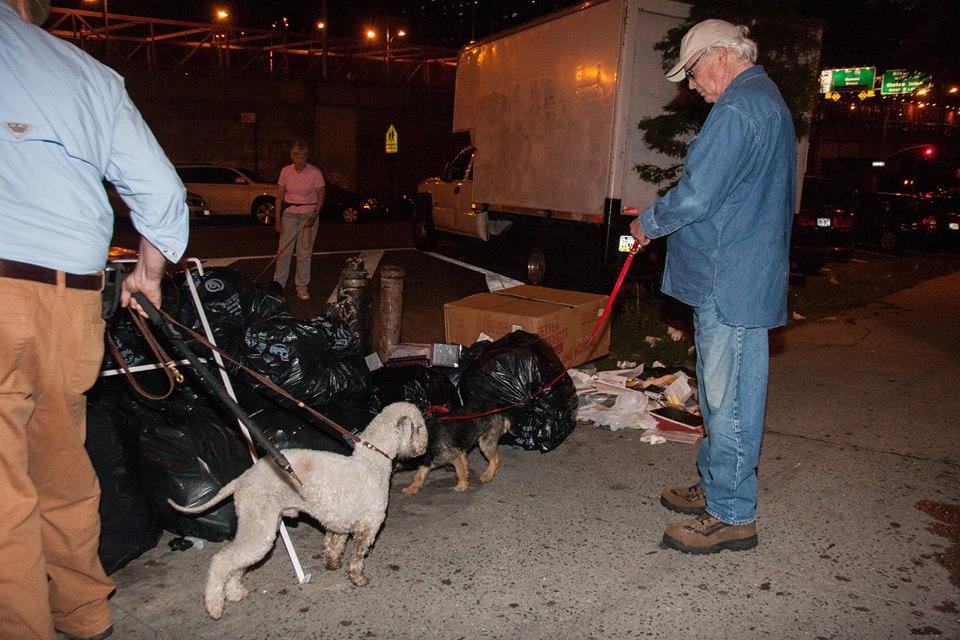 O grupo R.A.T.S (Ryders Alley Trencher-fed Society ) usa cachorros para caçar ratos. (Foto: Reprodução / Facebook / R.A.T.S)