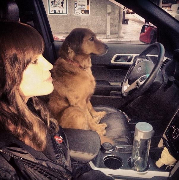 Uma motorista diferente. (Foto: Reprodução / Instagram)