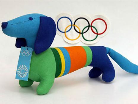 O dachshund Waldi foi mascote dos Jogos Olímpicos de Munique, em 1972. (Foto: Reprodução / Examiner)