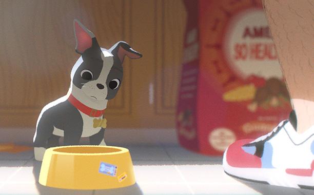 O cão Winston é a estrela principal do novo curta-metragem da Disney. (Foto: Reprodução / Entertainment Weekly)