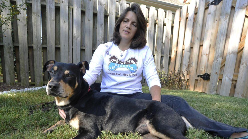 O cão Lazarus com sua nova tutora, Jane Holston. (Foto: Reprodução / ABC News)