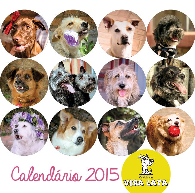 Calendário Celebridade Vira-Lata. (Foto: Reprodução / Celebridade Vira-Lata)