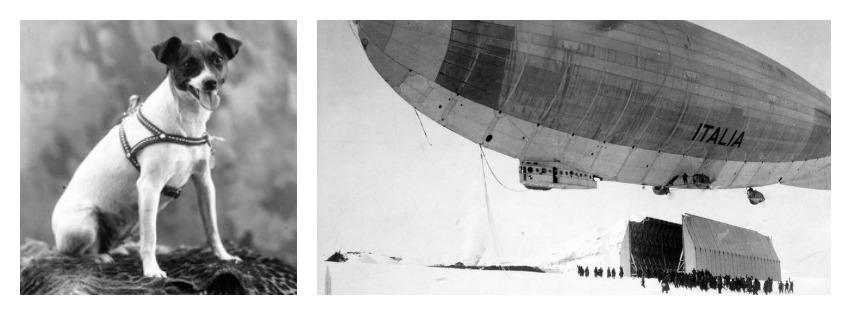 A cachorra Titina e o dirigível. (Foto: Reprodução / Bark Post)