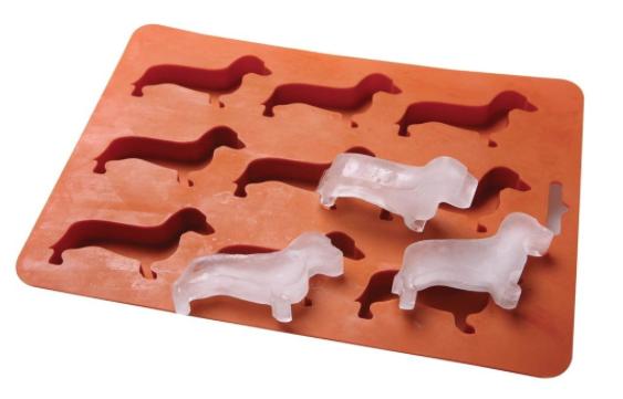 Forma de gelo de dachshund. (Foto: Divulgação / Amazon)