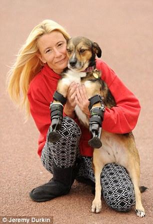 Kelly Hare ajudou a cachorra Tara. (Foto: Reprodução / Daily Mail UK)