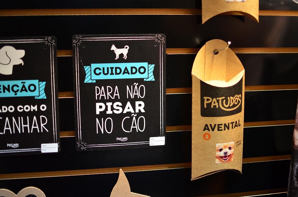 Plaquinhas criativas. (Foto: Fabricio Ladeira)