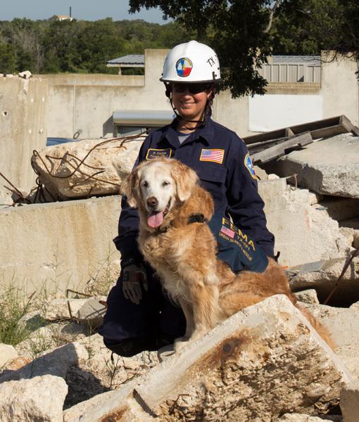 Finalista na categoria Cão de Busca e Salvamento: Bretagne trabalhou no resgate das vítimas do atentado terrorista no World Trade Center e após o furacão Rita em 2005. (Foto: Reprodução / Pawnation)