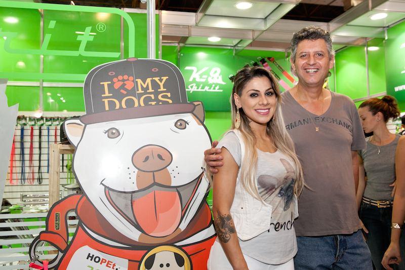 Vanessa Mesquita com Sérgio Moro (sócio da K9-Spirit). (Foto: Divulgação)