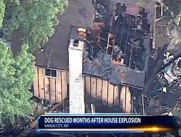 A casa ficou destruída por causa da explosão. (Foto: Reprodução / Daily Mail UK)