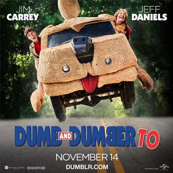 O querido carro aparece até no cartaz do filme. (Foto: Reprodução / Instagram / dumbto)