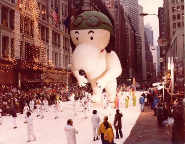 Snoopy aviador no desfile de 1968. (Foto: Reprodução / Bark Post)