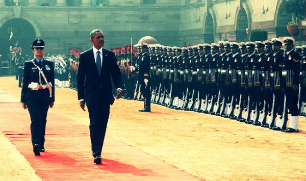 Obama teve uma segurança reforçada. (Foto: Reprodução / Bark Post)