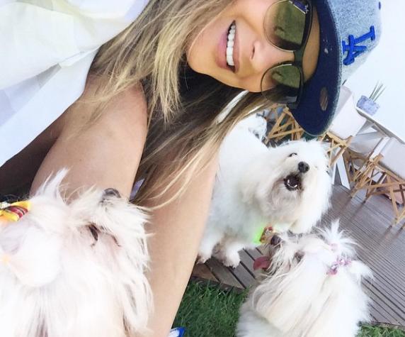 Claudia Leitte com os cães Mary Jane, Abigail e Raimundo. (Foto: Reprodução / Instagram)