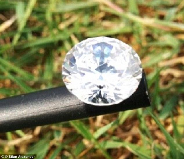 O diamante vale quase 50 mil reais. (Foto: Reprodução / Daily Mail UK)