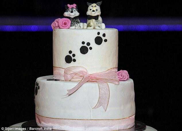 Teve até bolo de casamento com novinhos no topo! (Foto: Reprodução / Daily Mail UK)
