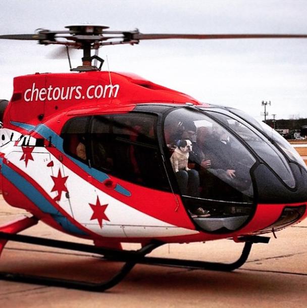 Helicóptero. (Foto: Reprodução / Instagram / Rich Dogs Of Instagram)