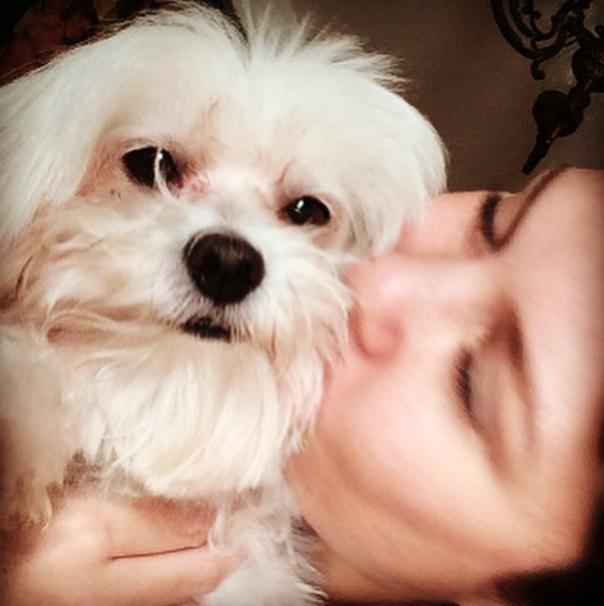 Bárbara Borges com o cachorro Frederico. (Foto: Reprodução / Instagram)