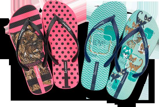 """f34ab74050 Promoção """"Ipanema É o bicho"""" personalizará sandálias com a foto do pet de  10 participantes"""